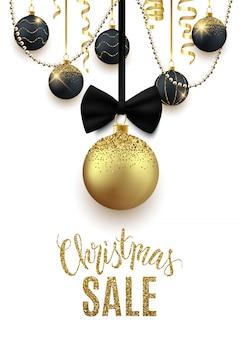 クリスマスセール広告バナー、割引