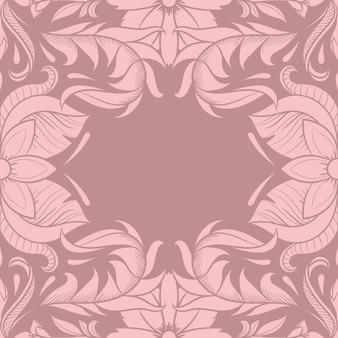 Ретро цветочный дизайн рамы, винтажный орнамент, двадцатые годы, иллюстрация