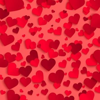 バレンタインデーのベクトルの背景テンプレート