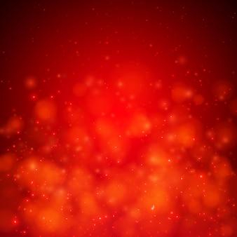 Абстрактный красный мягкий фон с огнями