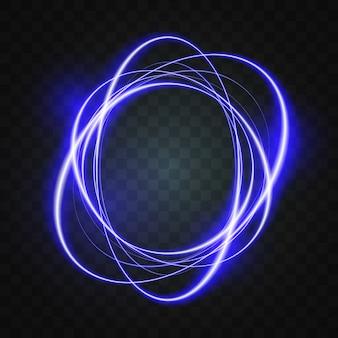 Эффект светящейся линии