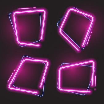 Фиолетовый набор баннеров