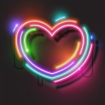 Сердце неоновое знамя