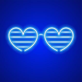 Сердце дизайн очков.