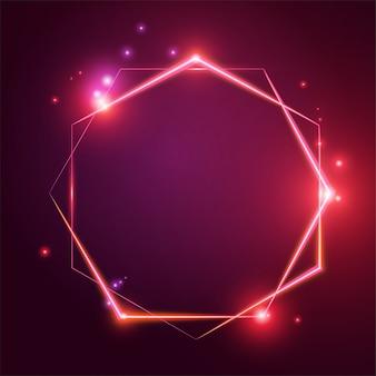 Световой эффект шестиугольника.