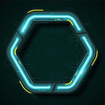 六角形技術バナーデザイン