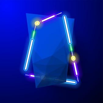 ブルー抽象的なバナーデザイン