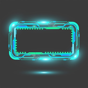 Прямоугольник технологии вектор баннер