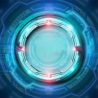 Синий футуристический фон технологии современный фон