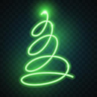 Зеленая неоновая рождественская елка