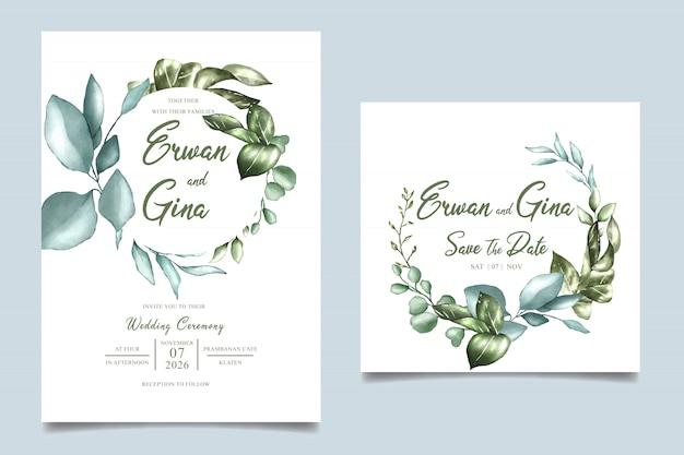 Акварель свадебные приглашения шаблон дизайн карты