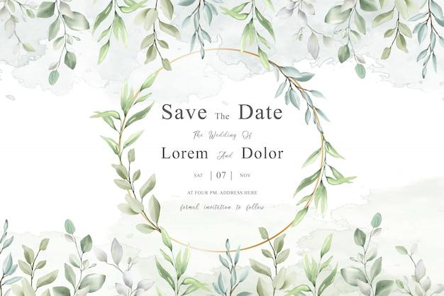 エレガントな結婚式フレーム多目的デザイン水彩