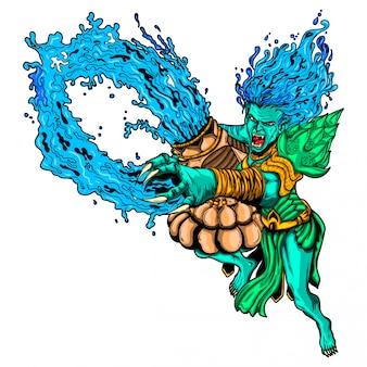 Иллюстрация водолей монстр