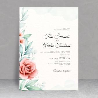 美しい花のウェディングカードのテーマ