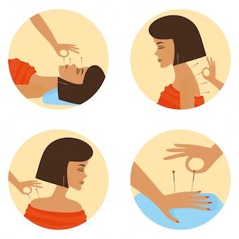 鍼治療セッション