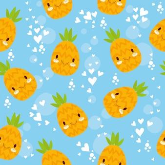 Бесшовный узор ананас