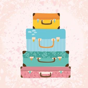 Старинные чемоданы.