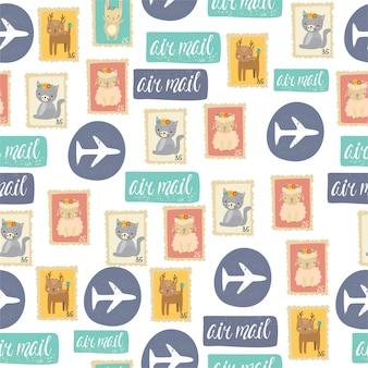 Шаблон почтовые марки