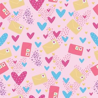 手紙とシームレスなパターン