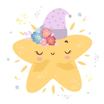 Милая маленькая звезда в кепке