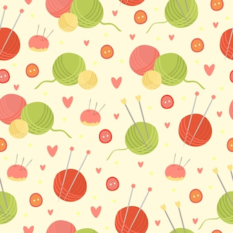 編み物のシームレスパターン