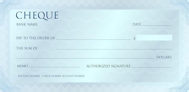 Роскошный серебристый чек шаблон с марочных гильошированный. проверьте с абстрактным водяным знаком, границы.