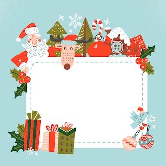 Санта-клаус с пустым белым знаком