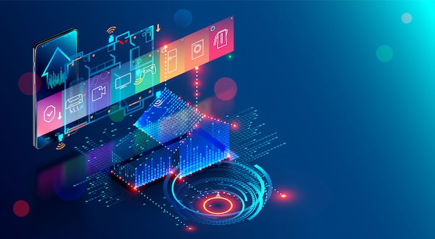スマートホーム、知財のものの自動化インターネットのアプリ