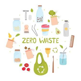 廃棄物ゼロ要素のセット