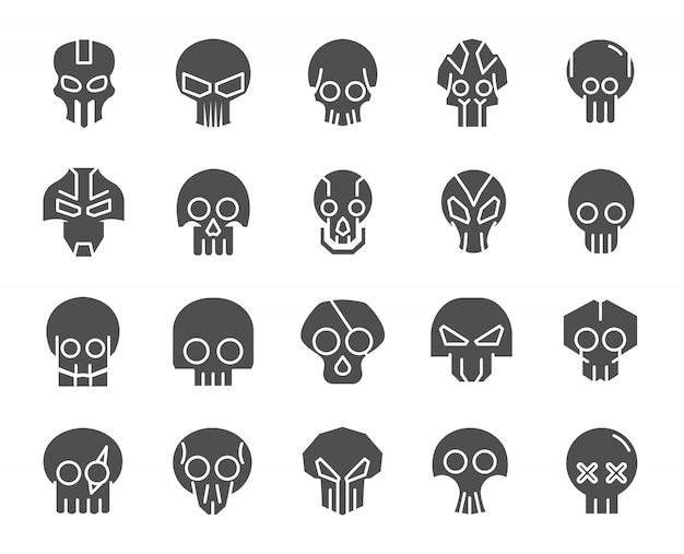 Набор иконок черепов
