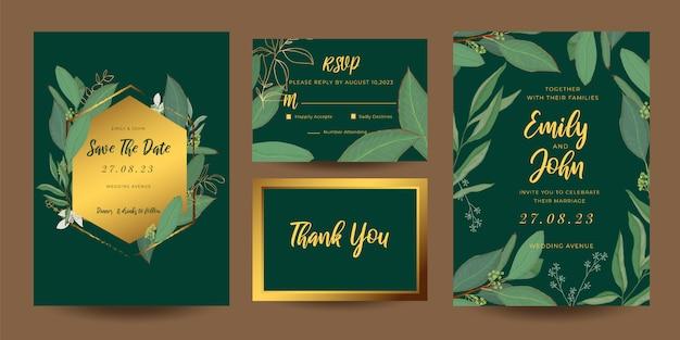 ウェディングカードの招待状テンプレートコレクション