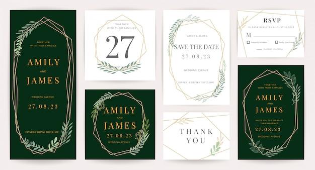 Коллекция шаблонов приглашения на свадьбу