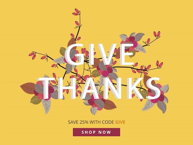 モバイル広告サイズの秋、秋、感謝祭のセールバナー。