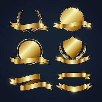 Коллекция золотых лент