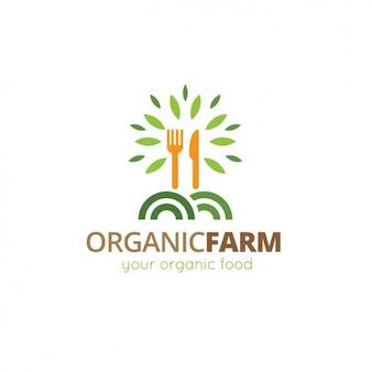 Шаблон логотипа органические продукты питания