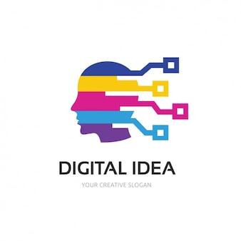 Шаблон логотипа многоцветная