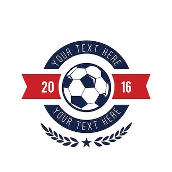 サッカーロゴ、サッカーロゴ、スポーツチームロゴ、ベクターテンプレート