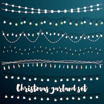 クリスマスの花輪セット。