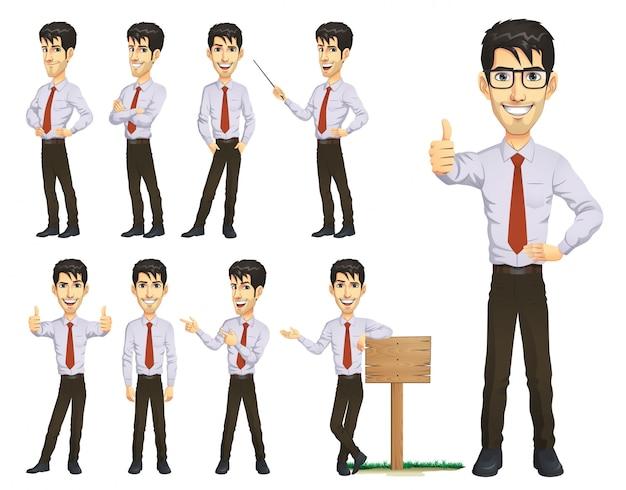 ビジネスマンのキャラクターセット
