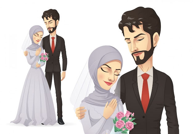 イスラム教徒の結婚式のカップル