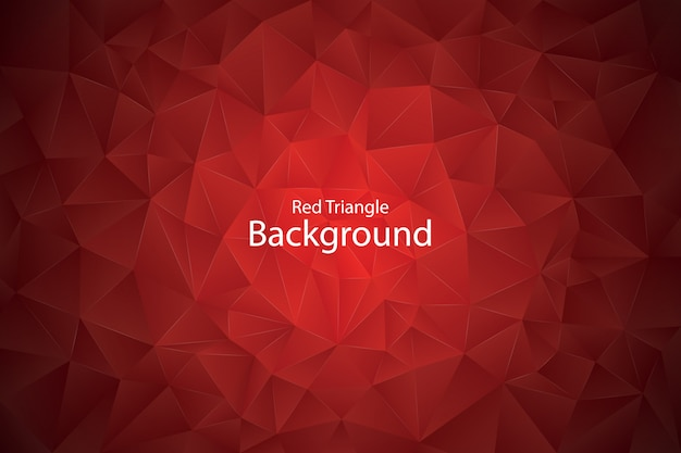 赤い幾何学的な三角形の背景