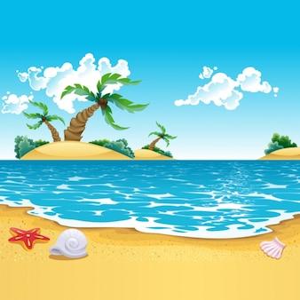 色とりどりのビーチの背景