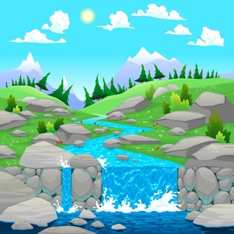 自然風景の背景デザイン