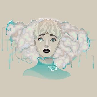 Портрет леди векторные иллюстрации