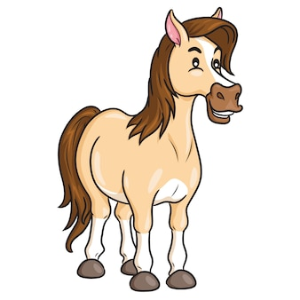 馬かわいい漫画