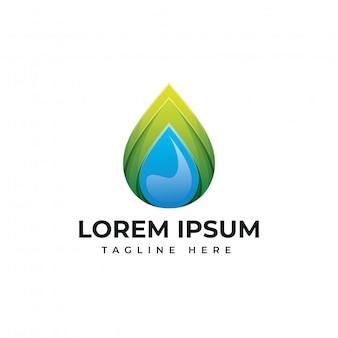 Шаблон логотипа капли