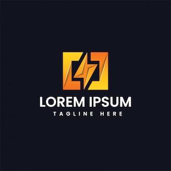 Сила энергии, освещающая логотип