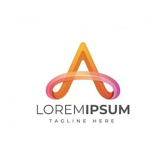 Письмо логотипа шаблона
