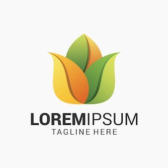 蓮の花のロゴのデザインテンプレート