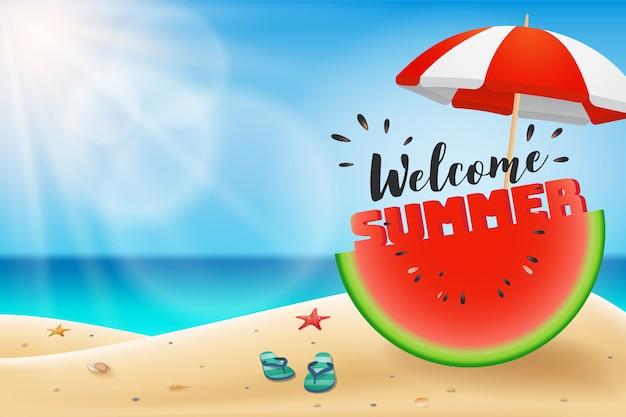 Приветствие летней надписи